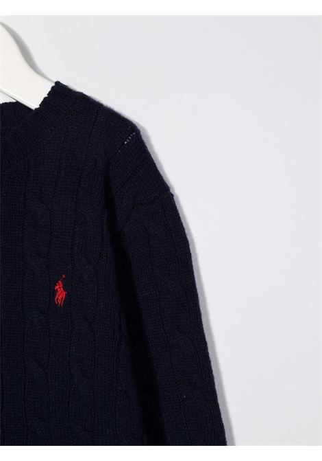 Maglione blu POLO RALPH LAUREN KIDS | 321702589017
