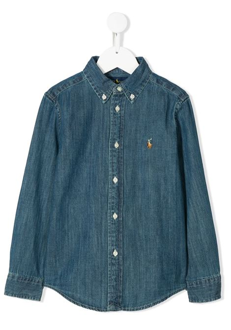 Camicia denim POLO RALPH LAUREN KIDS | 322713843001