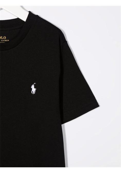 T-shirt nera POLO RALPH LAUREN KIDS | T-SHIRT | 322832904036