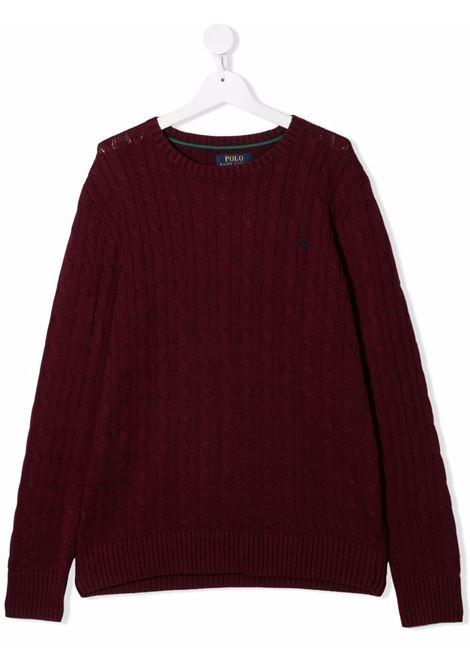 Maglione rosso POLO RALPH LAUREN KIDS | 323702674X012