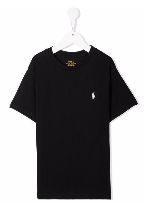T-shirt nera POLO RALPH LAUREN KIDS | 323832904036