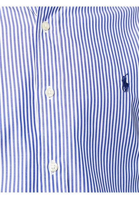 Camicia blu/bianca POLO RALPH LAUREN | CAMICIE | 710792044007