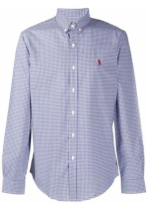 Camicia blu/bianca POLO RALPH LAUREN | 710849298001