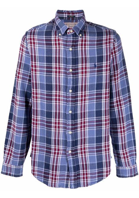 Camicia blu POLO RALPH LAUREN | 710852724001