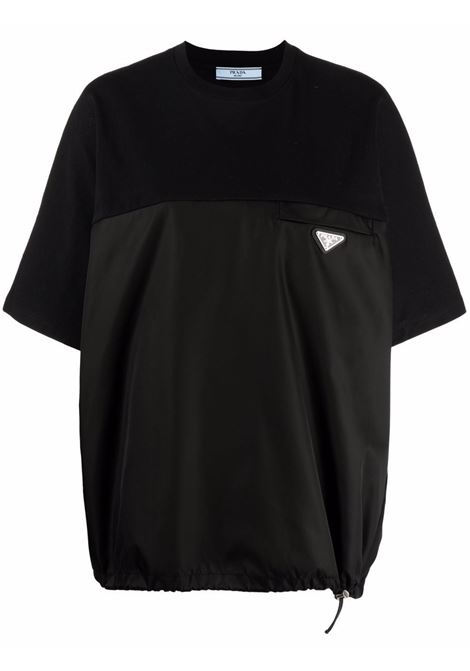 T-shirt nera con logo PRADA | 135697S2121YYAF0806