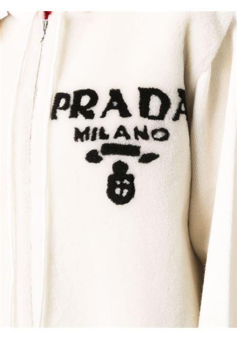 Cardigan bianco PRADA | P25I09S2121Y1JF0K74
