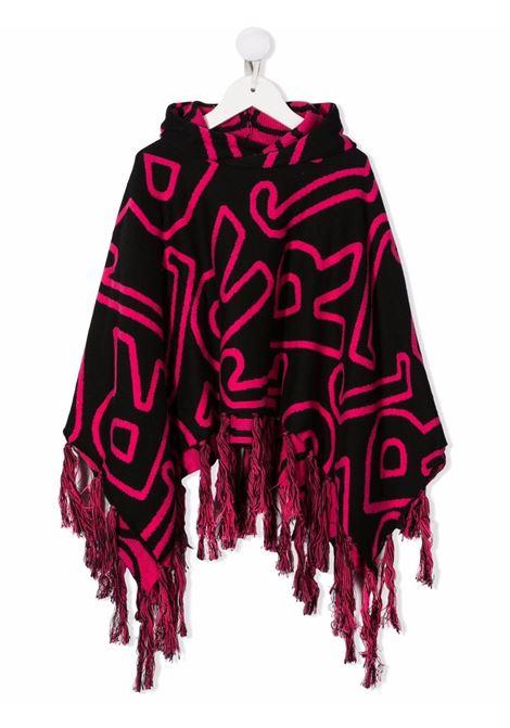 Black/pink cape RICHMOND KIDS | RGA21050MTRIBJRBKPK