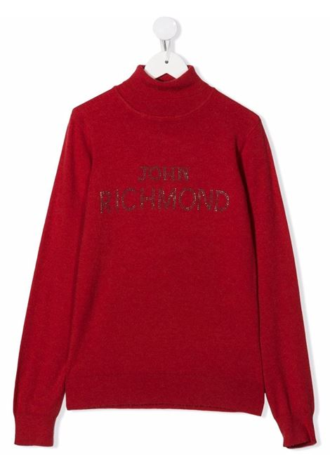Red jumper RICHMOND KIDS | RGA21058LURITREDDEEP