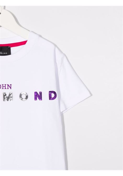 White t-shirt RICHMOND KIDS | RGA21070TSGETWHITE