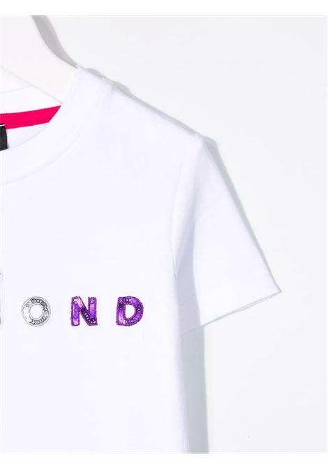 White t-shirt RICHMOND KIDS | RGA21070TSGEWHITE
