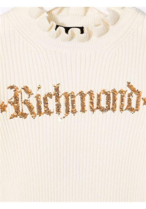 White/black dress RICHMOND KIDS | RGA21072VEGDOWHITEBK