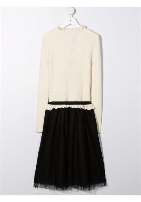 White/black dress RICHMOND KIDS | RGA21072VEGDTOWHITEBK