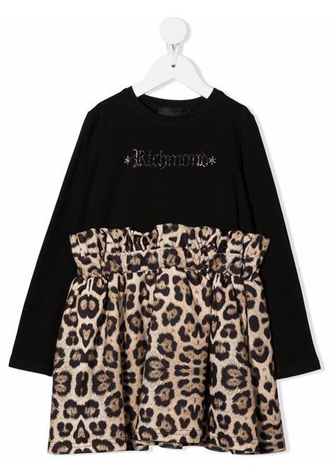 Brown/black dress RICHMOND KIDS | RGA21142VEG4BLACK