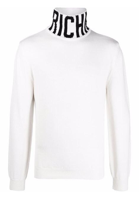 Black/white jumper RICHMOND   RMA21029LUMIWHITEBLK