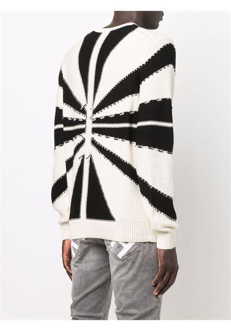 Black/White jumper RICHMOND   RMA21115MAG6WHITEBLK