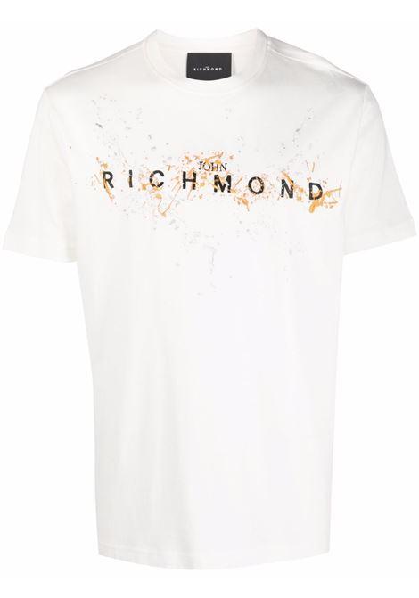 White t-shirt RICHMOND   RMA21132TSA8OFFWHITE