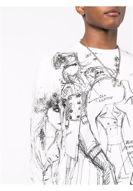 White sweatshirt RICHMOND   RMA21136FEA8WHITE
