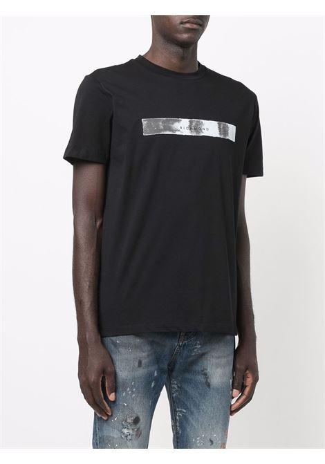 Black t-shirt RICHMOND   RMA21177TSPUBLACK