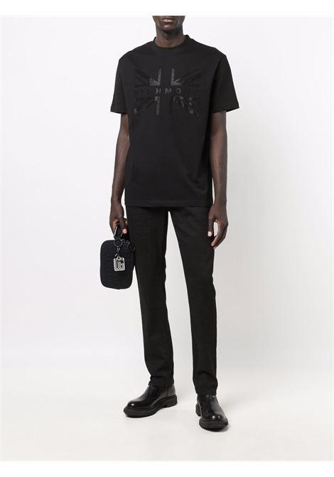 Black t-shirt RICHMOND   RMA21203TS9FBLACK