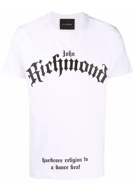 White t-shirt RICHMOND   RMA21312TS9FWHITE
