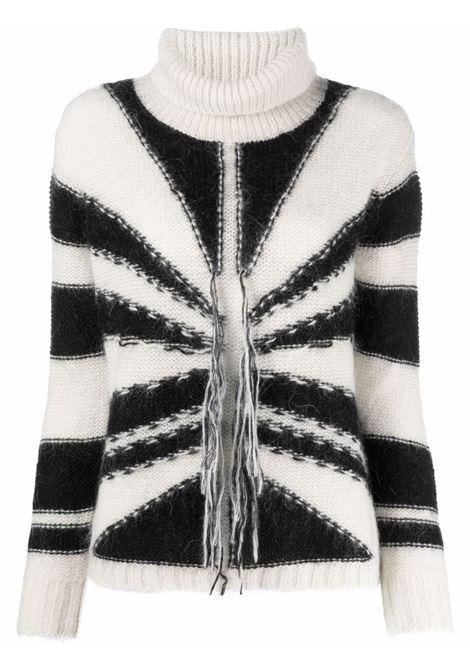 Maglione nero/bianco RICHMOND   RWA21019LUG6WHITEBLK