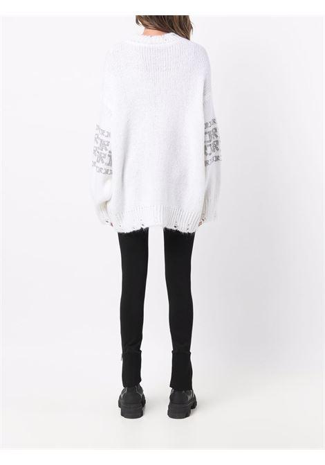 Maglione bianco RICHMOND   RWA21225MAG5OFFWHITE