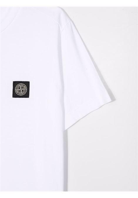 T-shirt bianca STONE ISLAND KIDS | T-SHIRT | 751620147TV0001