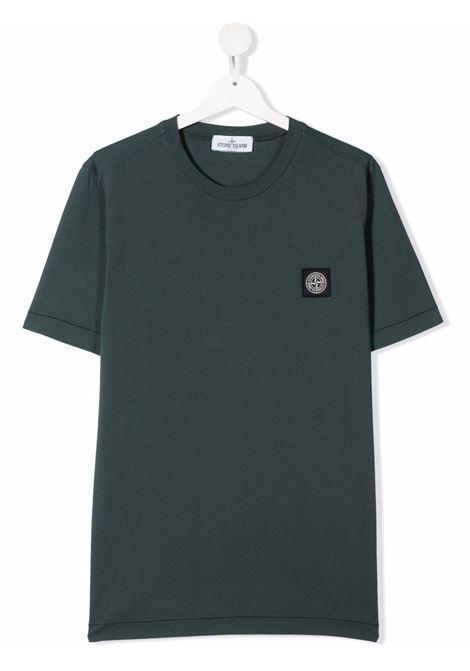 T-shirt verde STONE ISLAND KIDS | T-SHIRT | 751620147TV0057