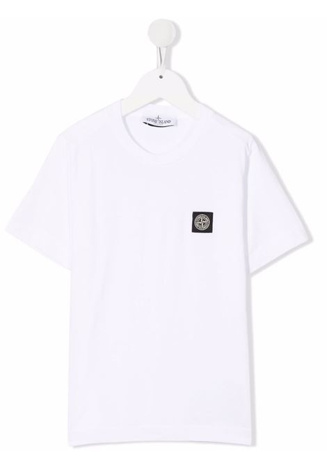 T-shirt bianca STONE ISLAND KIDS | T-SHIRT | 751620147V0001