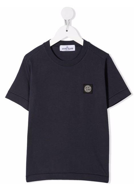 T-shirt blu STONE ISLAND KIDS | T-SHIRT | 751620147V0020