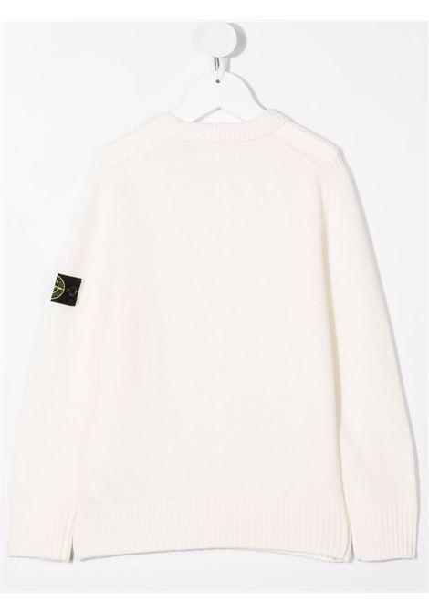 Maglione bianco STONE ISLAND KIDS | 7516506A1V0099