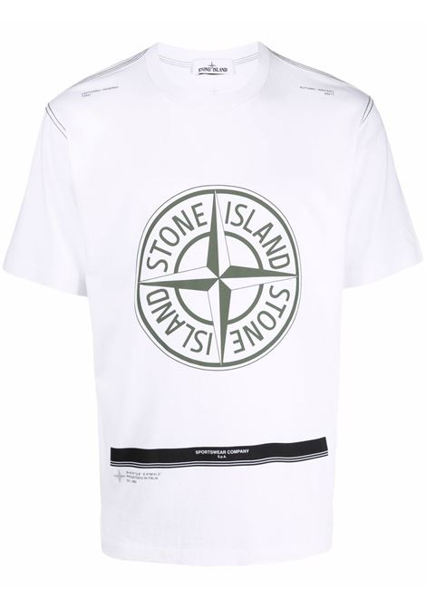 T-shirt bianca STONE ISLAND | 751520892V0001