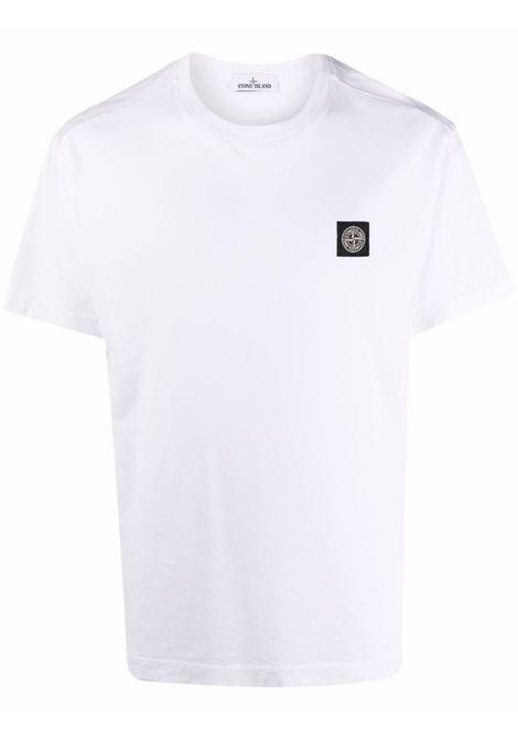 T-shirt bianca STONE ISLAND | T-SHIRT | 751524113V0001