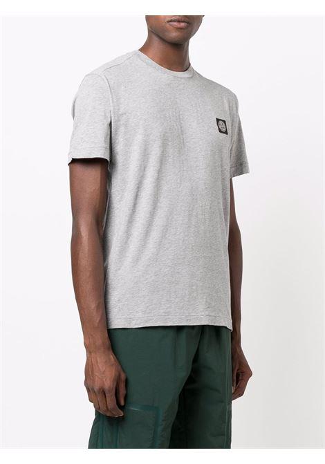 T-shirt grigio STONE ISLAND | T-SHIRT | 751524113V0M64