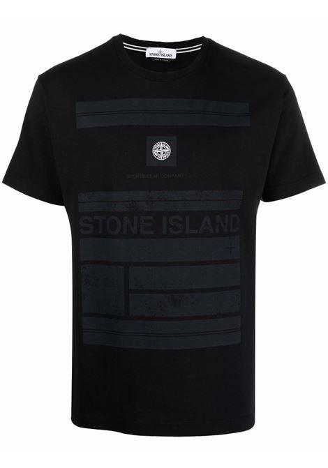 T-shirt nera STONE ISLAND | 75152NS78V0029