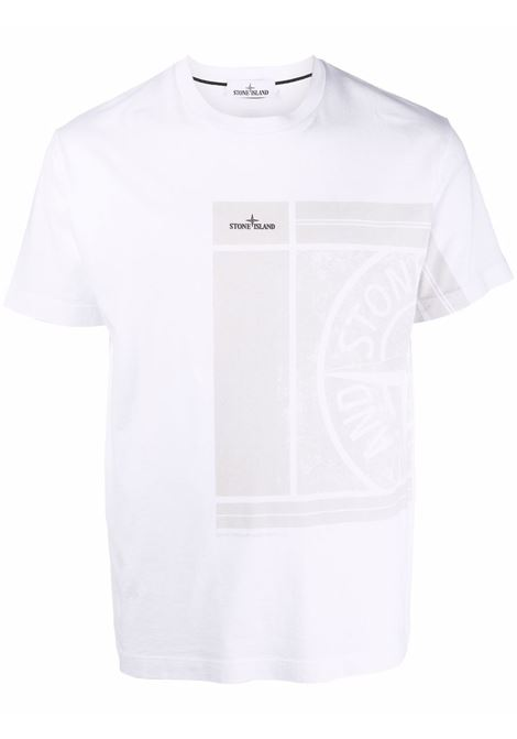 T-shirt bianca STONE ISLAND | T-SHIRT | 75152NS81V0001