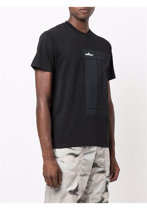 T-shirt nera STONE ISLAND | T-SHIRT | 75152NS81V0029