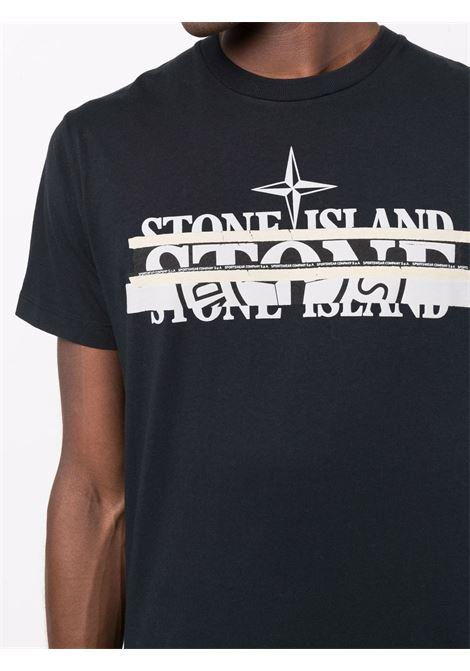 Blue t-shirt STONE ISLAND | T-SHIRT | 75152NS82V0020