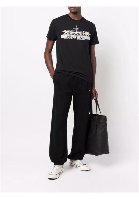 Black t-shirt STONE ISLAND | T-SHIRT | 75152NS82V0029