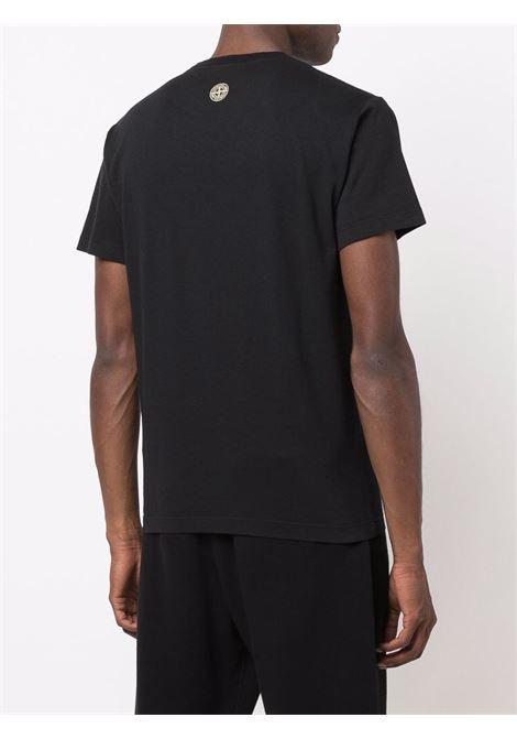 T-shirt nera STONE ISLAND | T-SHIRT | 75152NS82V0029