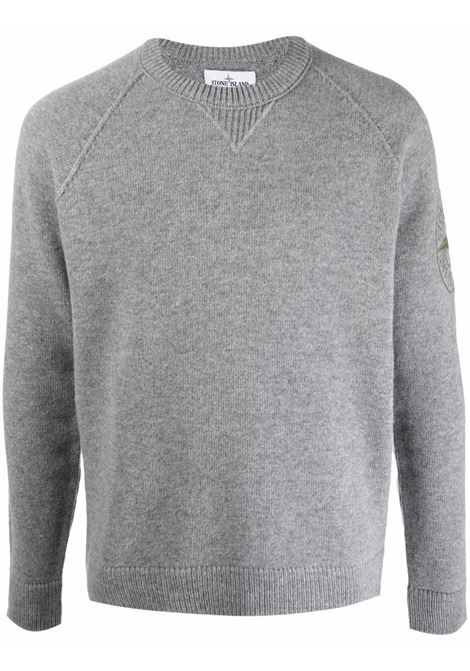 Grey jumper STONE ISLAND | SWEATER | 7515514B7V0060