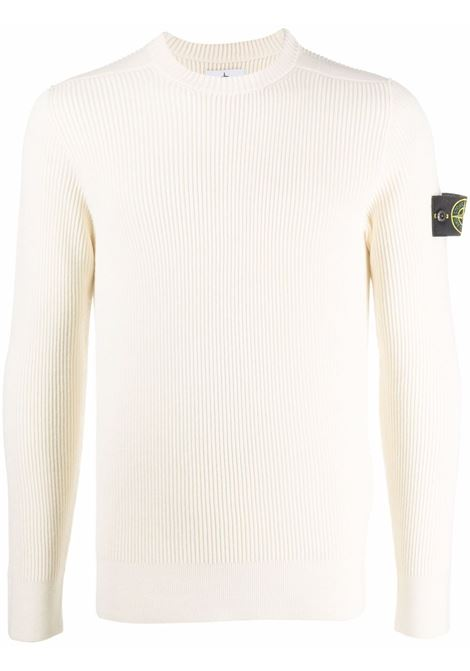 White jumper STONE ISLAND | SWEATER | 7515521C2V0099