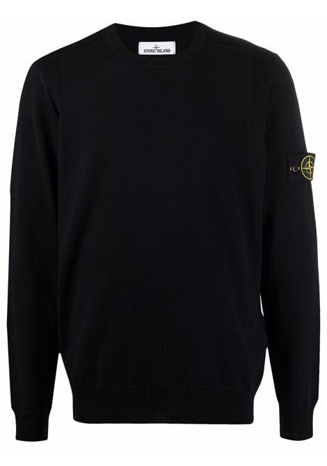 Black pullover STONE ISLAND | PULLOVER | 7515526C4V0020