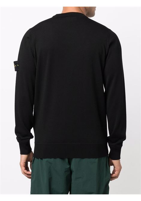 Black pullover STONE ISLAND | PULLOVER | 7515526C4V0029