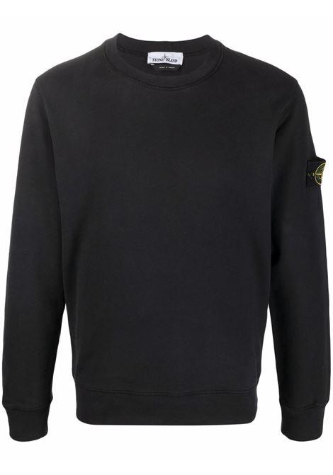 Black sweatshirt STONE ISLAND | SWEATSHIRTS | 751563020V0029