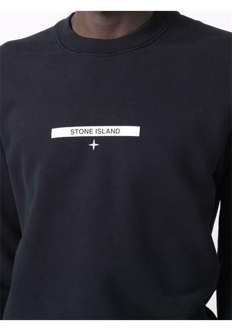 Felpa blu STONE ISLAND | FELPE | 751563085V0020
