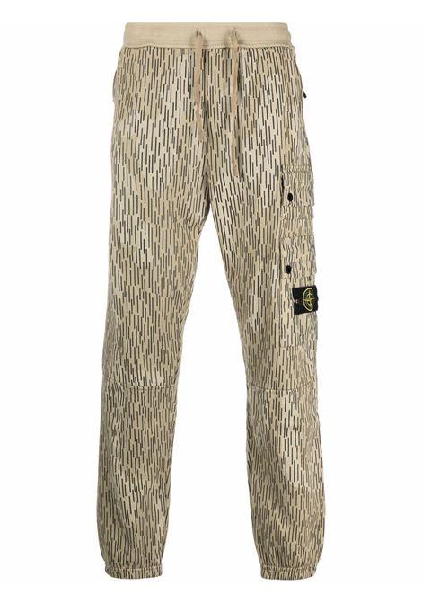 Beige track pants STONE ISLAND | 7515651E3V0091