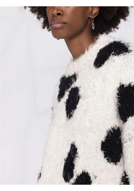 Maglione bianco/nero THE ATTICO | MAGLIONE | 213WCK06A009001