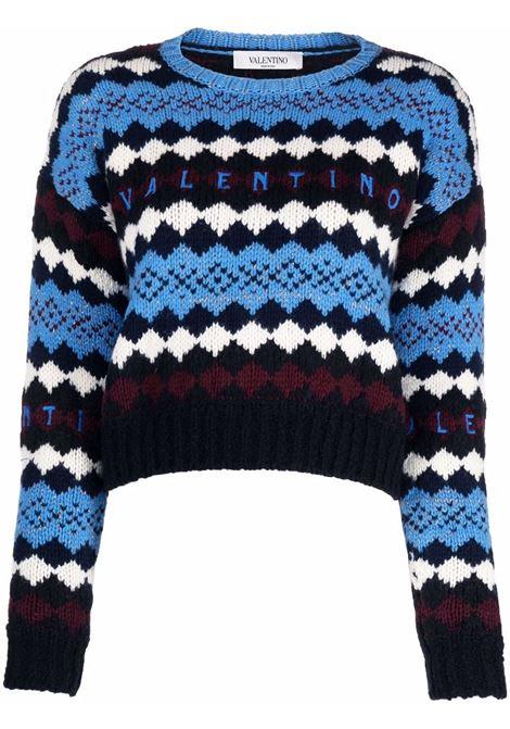 Maglia blu/nero/bianco VALENTINO PAP | WB3KC24T6LUG91