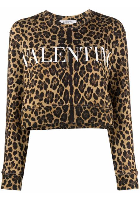Felpa leopardo VALENTINO PAP | WB3MF12G6P1AN2